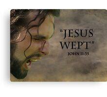 Jesus wept Canvas Print
