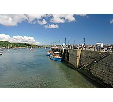 St Mawes Ferries Alongside the Pier Photographic Print