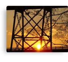 Huey P. Long Bridge (Sunset) Canvas Print