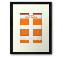 No112 My Fifth Element minimal movie poster Framed Print