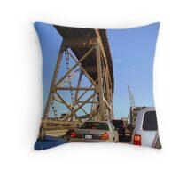 Stuck In Bridge Traffic Throw Pillow