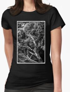 Black and white botany - 1 Womens Fitted T-Shirt