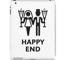 Happy End (Wedding / Marriage / Champagne / White) iPad Case/Skin