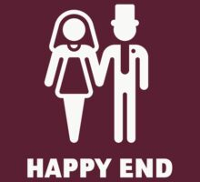 Happy End (Wedding / Marriage / Bridal Pair / White) by MrFaulbaum