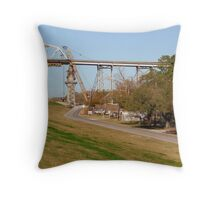 The River Road And The Levee Throw Pillow
