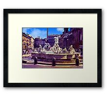 Vintage Italian Fountain Framed Print