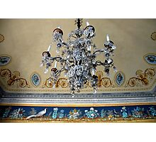 Crystal lamp and ceiling Photographic Print