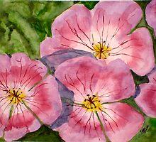 Purple Geraniums by Tina Messec
