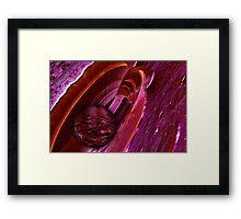 Pink Fractal Landscape 11 Framed Print