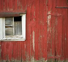 Red Shed Window 1 by Jesse J. McClear