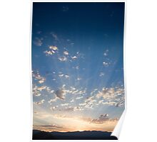 Sunset Over the Mountains Poster
