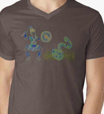Warriors and Snake Mens V-Neck T-Shirt