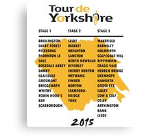 Tour de Yorkshire 2015 Tour Canvas Print