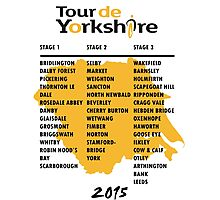 Tour de Yorkshire 2015 Tour Photographic Print