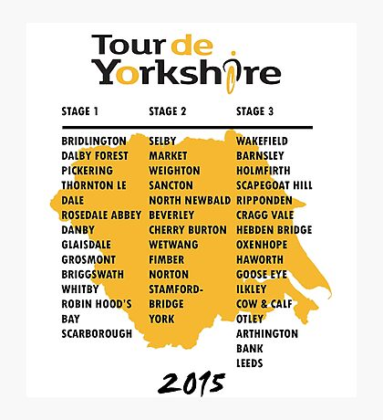 Tour de Yorkshire 2015 Tour Photographic Print