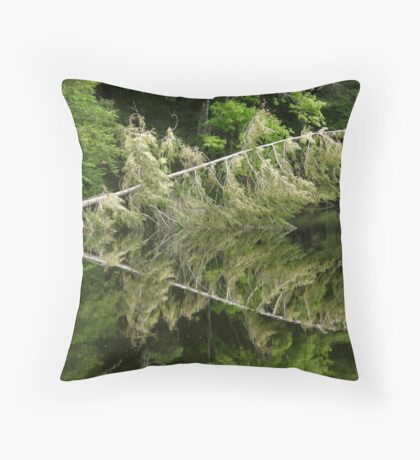 Symmetry in Water Throw Pillow