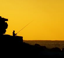 Fishing at Dawn by Samantha  Goode