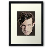 Tenth Doctor Triangles Framed Print