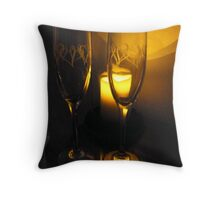 """A TOAST TO LOVE"" Throw Pillow"