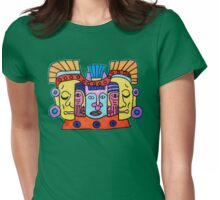 Aztec Gods Tee Womens Fitted T-Shirt