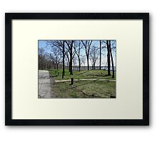 Hopewell Indian Burial Mounds Framed Print