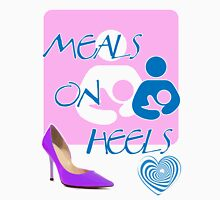 Meals on Heels! Breastfeeding Tee Womens Fitted T-Shirt