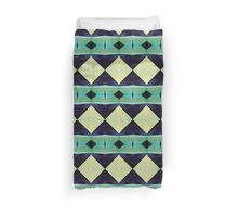 Blue And Green Diamond Pattern Duvet Cover
