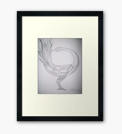 Sankofa bird Framed Print