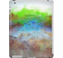 Landscape Design in Bright Green and Aqua Blue iPad Case/Skin