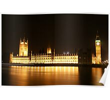 Houses of Parliament @ Night Poster