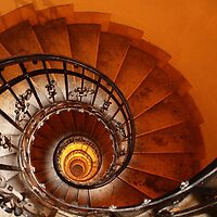 Spiral Staircase, St Stephen's Basilica, Budapest by Ludwig Wagner