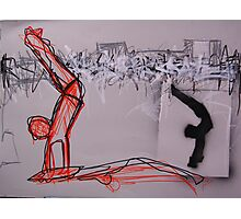 hand stand on skateboard Photographic Print