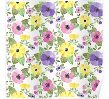 Spring Bouquet Watercolor Poster
