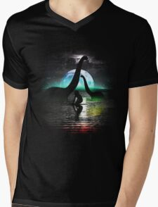 Night Swimming Mens V-Neck T-Shirt