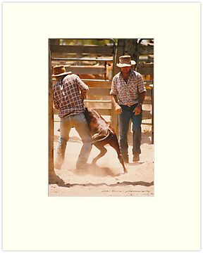 Cowboys At Work © Vicki Ferrari by Vicki Ferrari
