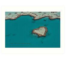 Heart Reef © Vicki Ferrari Art Print