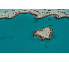 Heart Reef © Vicki Ferrari Photographic Print