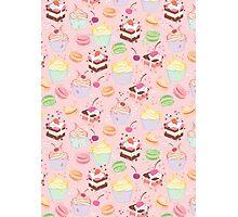 sweet cupcake pattern Photographic Print
