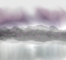 Soft Landscape in Purple and Gray by Jessielee72