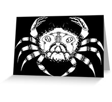 Cancer the Crab Black Greeting Card