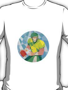 American Football Quarterback Passing Low Polygon T-Shirt