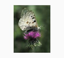 Silver Butterfly on Thistle Unisex T-Shirt