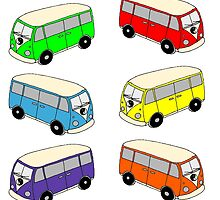 The Love Bus - Multi Colour by dendryad
