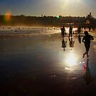 Sunset Bondi beach by Chris  Jee