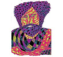 Jerry Garcia Psychedelic Photographic Print