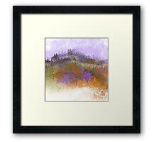 Landscape in Purple, Orange, and Greens Framed Print