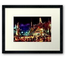 The extraordinary Wat Phra Keow, Bangkok Framed Print