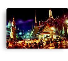 The extraordinary Wat Phra Keow, Bangkok Canvas Print