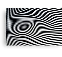 Op-art black and white swirly stripes Canvas Print