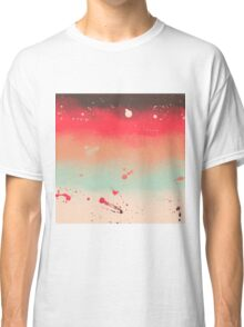 Autumn Stripes Watercolor Abstract Splatters Classic T-Shirt
